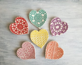 Ceramic heart saucers-door rings-bride and groom-wedding favors-wedding gifts-ring plates-Home Decor
