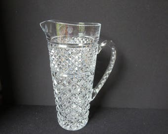 Large Anchor Hocking Wexford Design (?) 48 oz Large Clear Pressed Glass Pitcher 1.5 Quart