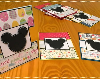 Mickey themed card set
