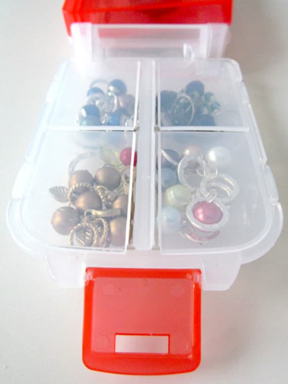 Snap n Go Notions Case - On-The-Go Storage Accessory for Knitters and Crocheters - Cherry Red