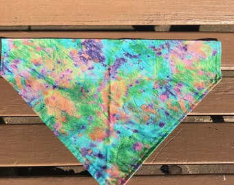 Rainbow Tie-Dye Over-the-Collar Bandana