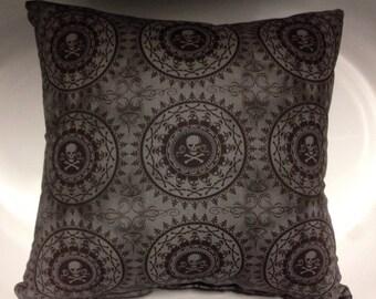 Skull and Crossbone Decorative Throw Pillows - Gothic - Garage - Mancave