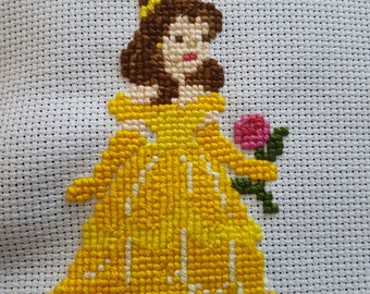 Belle - Beauty and the Beast Cross Stitch