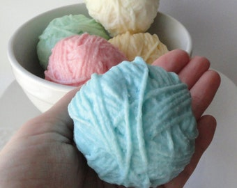 Ball of Yarn Gift Set - Goat Milk Soap - You choose any 2 - Pink, Blue, Yellow, Green, Cream - Crochet Box Gift Set - Novelty - Mothers Day