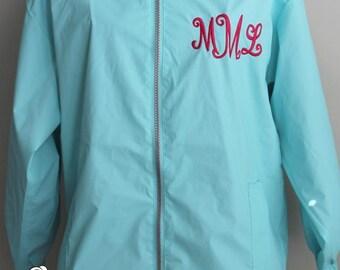 Monogrammed Rain Jacket-Charles River Rain Jacket-Youth Monogrammed Jacket-Youth Jacket-Personalized Full Zip Up Rain Jacket-Rain Jacket