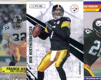 PITTSBURGH STEELERS Football Team Lot - 200 Assorted Cards