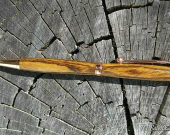 Wenge Slimline Pen, Wood Pen, Handmade Pen, Wooden Pen, Gift for Him, Gift for Her, Gift for Mom, Gift for Dad, Twist Pen, Copper Pen