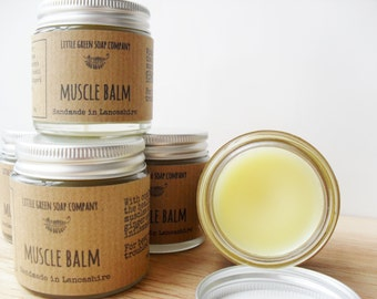 Muscle Balm, Sore Aching Joints, Warming Herbal Salve, Herbal Muscle Rub, Gardener's Gift