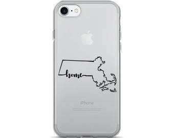 Massachusetts Home State - iPhone Case (iPhone 7/7 Plus, iPhone 8/8 Plus, iPhone X)