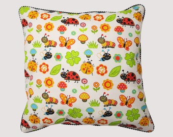 Handmade Ladybug cushion 45 cm x 45 cm