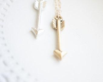 Arrow Necklace | Archery Jewelry | Silver Arrow Necklace | Gold Arrow Necklace