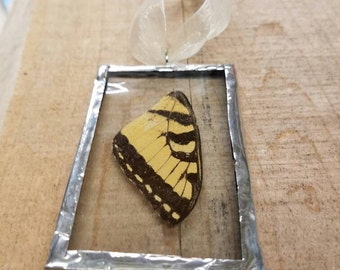 Tiger Swallowtail Butterfly Glass Ornament