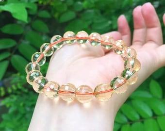 Natural Citrine Quartz Crystal Bracelet /黃晶手鏈