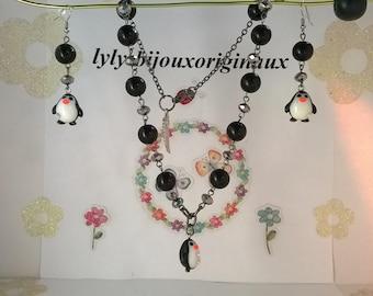 Black and white Penguin ornament