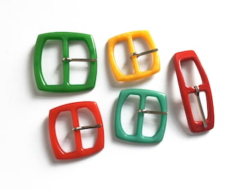 Plastic buckles, square buckles, belt buckle, colourful buckles for craft and sewing projects