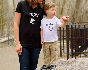 Mommy and Me Copy/Paste Shirt Set
