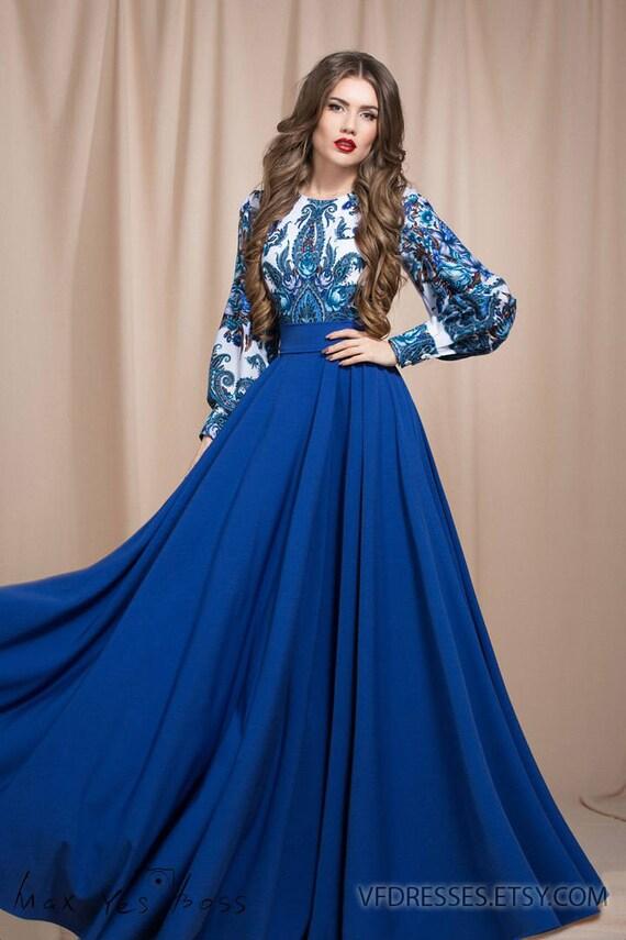 Summer dress maxi blue maxi dress summer dresses for women