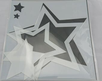 "Star Frames 6x6"" Stencil / Mask by Imagine Design Create"