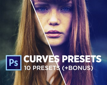 Photoshop Curves Presets Pack | 10 + 2 BONUS Included | Use as PS Resource, Color Pop for Photo Editing & More