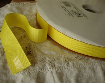 """yellow ribbon 7/8"""" grosgrain destash wedding craft supplies 3 yards yellow party crafting embellishments sewing hair accessories supplies"""