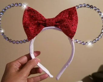 Rhinestone Wire Mouse Ears
