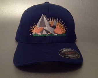 Moe. Paper Dragon Flexfit Hat curved brim made to order FREE SHIPPING