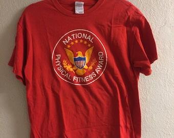 Vintage National Physical Fitness Award T-Shirt