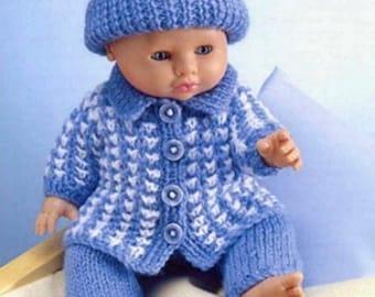 doll clothes dk knitting pattern 99p