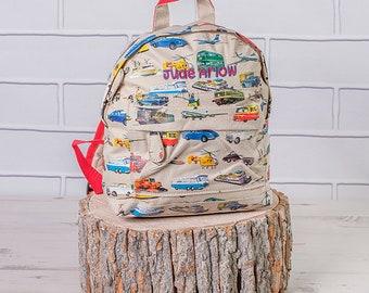 Personalised Vintage Vehicle Backpack, Mini Backpack, Vintage Vehicle Bag, Nursery Bag, Vintage Vehicle Gifts,  Vintage Vehicle Rucksack