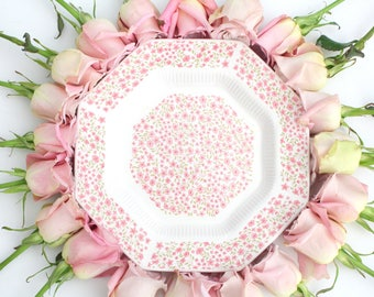 DINNER PLATE, Vintage Dinner Plate by Independence Ironstone Interpace, Japan, Replacement China, Chintz Pattern