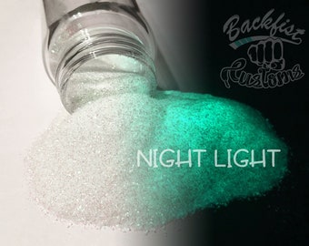 NIGHT LIGHT || Opaque Chunky Phosphorescent Glitter, Glow in the Dark