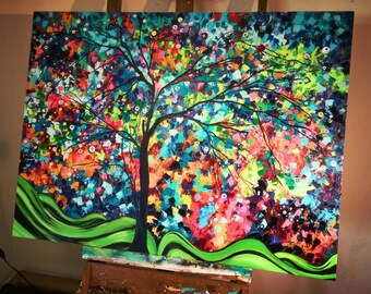 Gorgeous Abstract Landscape NEW Made to Order. Custom