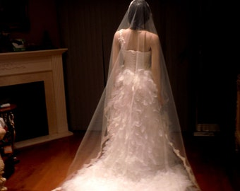 Mantilla Veil, Lace Veil, Wedding Veil, Cathedral Lace Veil