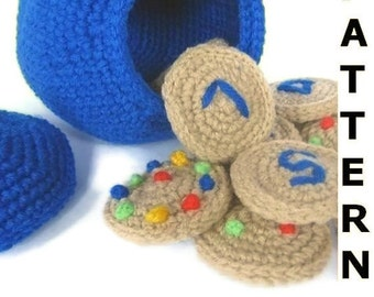 Play Food Crochet Pattern - Counting Cookies