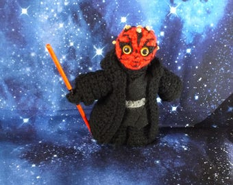 Darth Maul Star Wars inspired crochet characters
