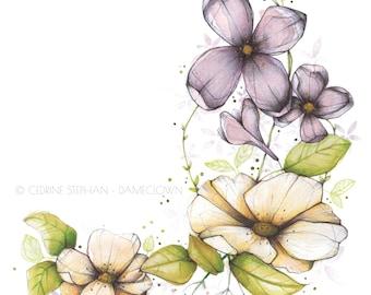Bouquet floral • Illustration