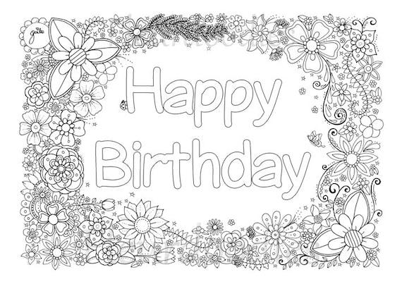Ausmalbilder Für Erwachsene Zum Geburtstag Batavusprorace