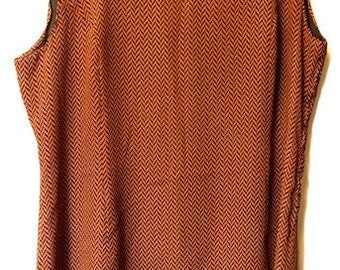 Vintage Burnt Sienna Shift Dress
