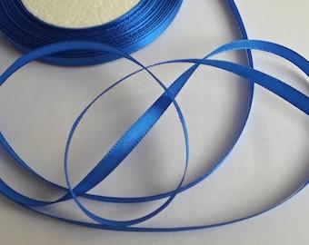 1 reel x 25 Yards (22 meters) Blue Satin Ribbon 6mm Craft/Sewing/Wedding/Flowers