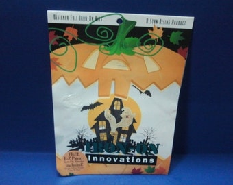 Fall Iron-on Applique Kit- Halloween Haunted House w/ ghosts,bats