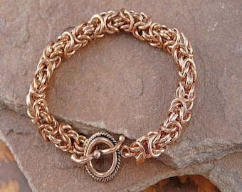 Byzantine Chainmaille Bracelet Kit - Genuine Copper 14g 5.5mm ID jump rings