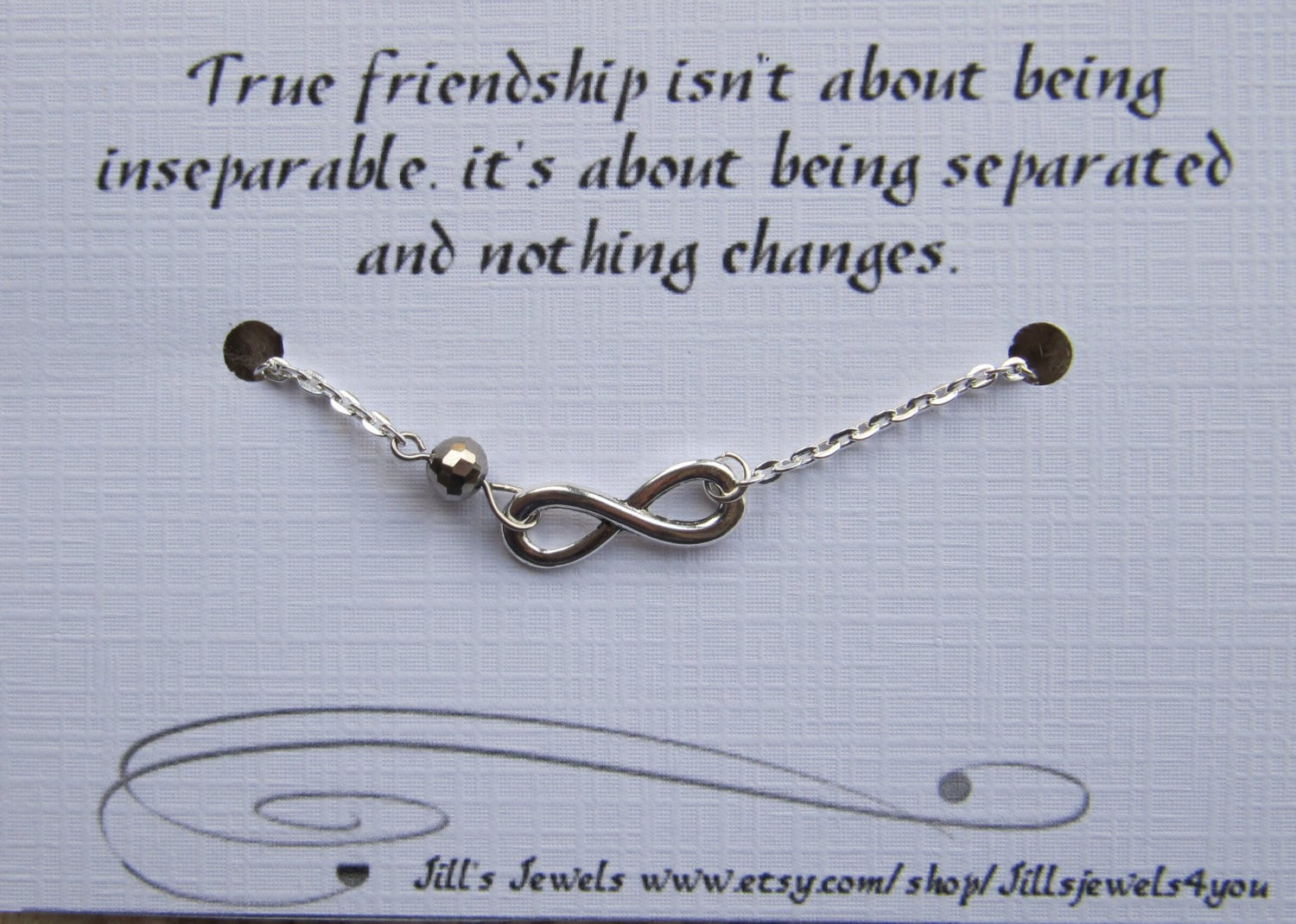 Quote About Distance And Friendship Magnificent Best Friend Friendship Charm Bracelet Best Friend Gift Long