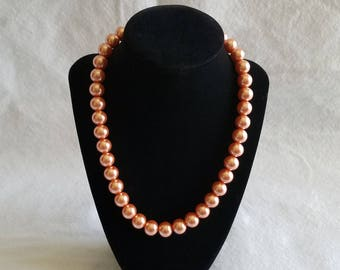Pearl Necklace - Rose Gold (Plain)