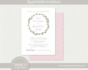 First Communion Printable Invitation by tania's design studio