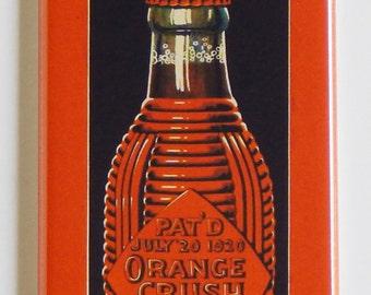 Orange Crush Sign Fridge Magnet (1.5 x 4.5 inches)