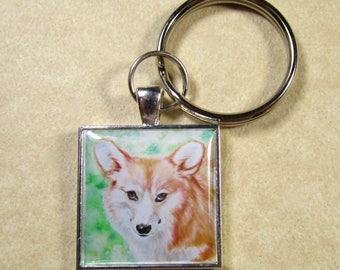 Corgi Keychain, Red Pembroke Welsh Corgi Key Chain, Corgi Key Ring, Corgi Mens Gifts, Corgi Gifts, Corgi Dad Gifts, Corgi Mom Gifts