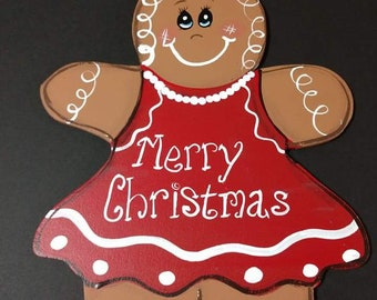 Gingerbread girl red dress
