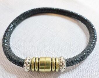 Black Suede Leather Bracelet