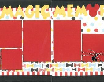 12x12 MAGIC MEMORIES scrapbook page kit, disney scrapbook pages, disney scrapbook page kit, 12x12 scrapbook page, scrapbook page kit
