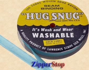 "PATIO PEACOCK - Hug Snug Seam Binding - 100 yard roll 1/2"" Wide - 100% Woven-Edge Rayon - Sewing Trim & Craft Supply - Wholesale Ribbon"